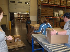 Mielle and Beth F moving boxes