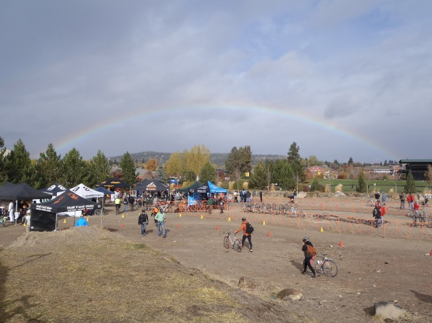 Cyclocross and Rainbows.What more could you want?