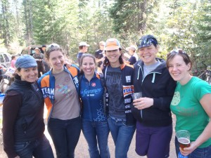 Jill, Christy, Mary, Mielle, Beth Ann and Laurie at Bear Springs xc 2012