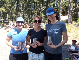 Mary, Lisa and Mielle with the Champion Chalice