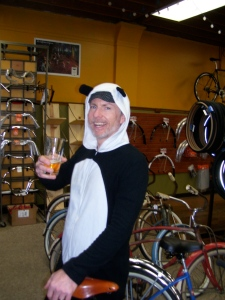 Pre race beer for the Panda