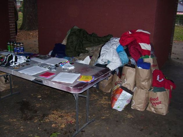 Piles of Donations